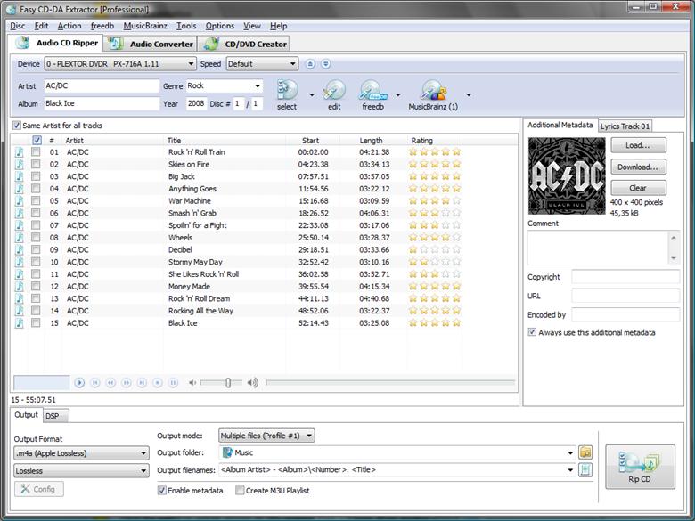 Easy CD-DA Extractor 16.1.0.4