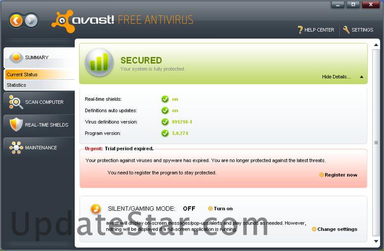 avast! Free Antivirus 17.9.2322