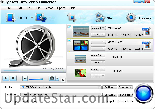 Bigasoft Total Video Converter.