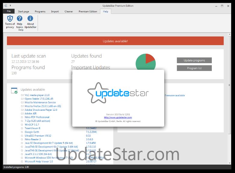 UpdateStar Premium Edition 11.0.1297