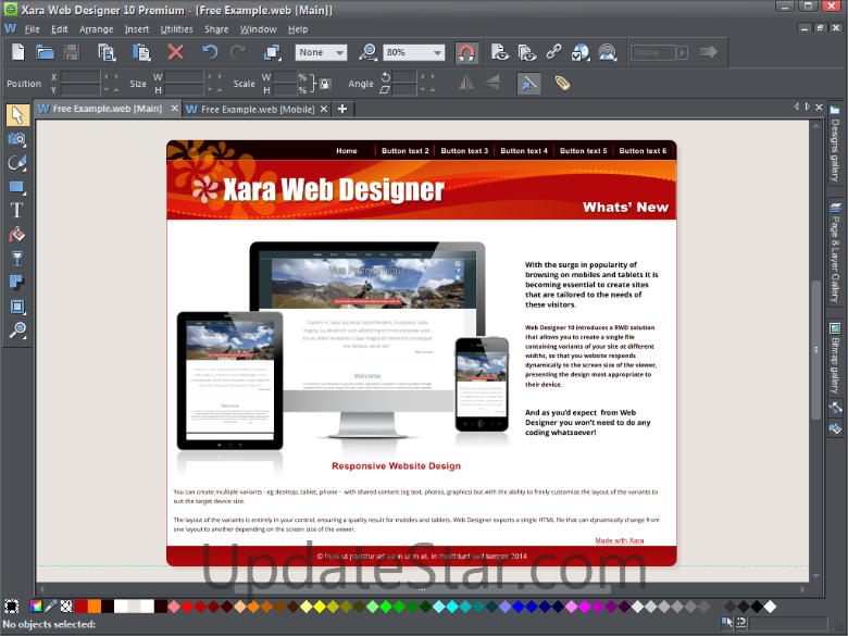 manual website constructor