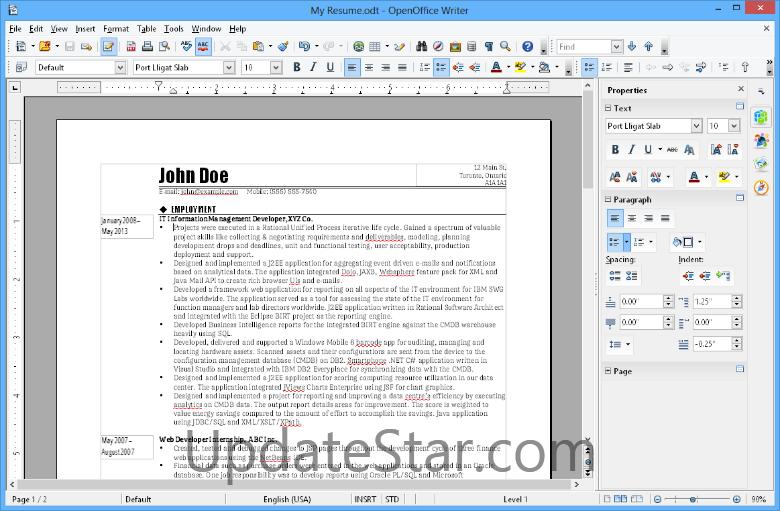 Apache OpenOffice 4.1.5
