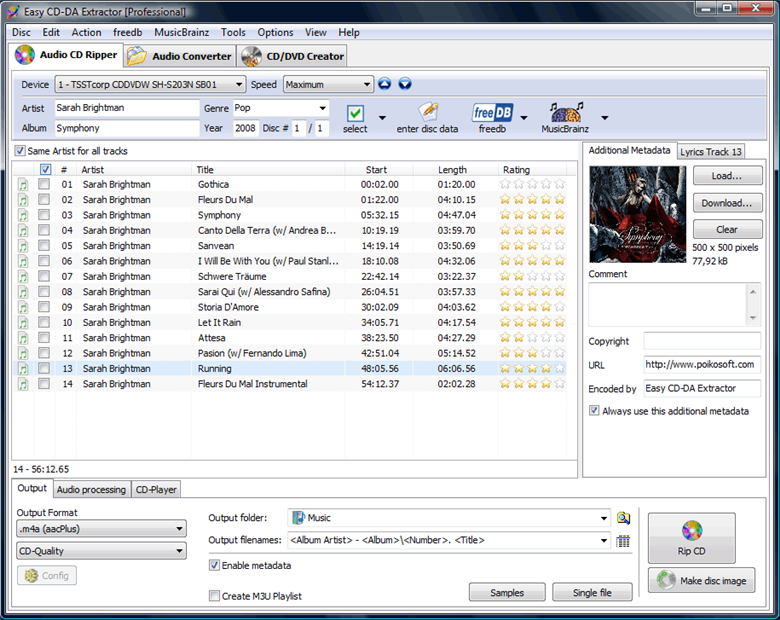 Easy CD-DA Extractor 16.1.0.4